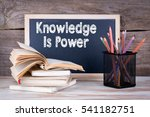 knowledge is power. stack of