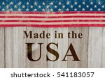 made in america message  usa... | Shutterstock . vector #541183057