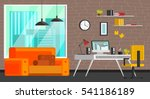 set of colorful living room... | Shutterstock .eps vector #541186189