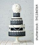 beautiful wedding cake... | Shutterstock . vector #541186564