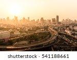 blurred bangkok cityscape for... | Shutterstock . vector #541188661