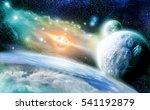blue frozen planets earth  the... | Shutterstock . vector #541192879