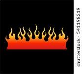 flame tattoo tribal vector... | Shutterstock .eps vector #541198219
