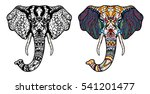 elephant head. adult antistress ... | Shutterstock .eps vector #541201477