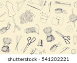 seamless background with... | Shutterstock .eps vector #541202221