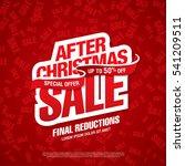 christmas sale banner  vector... | Shutterstock .eps vector #541209511