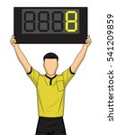 football referee shows extra... | Shutterstock .eps vector #541209859