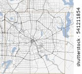 black and white map of dallas... | Shutterstock .eps vector #541211854