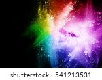 Colorful Powder Explosion On...