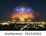 beautiful firework display for...   Shutterstock . vector #541216561