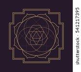 gold monochrome design abstract ... | Shutterstock . vector #541217395