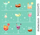 cocktails and alcohol drinks... | Shutterstock .eps vector #541221475