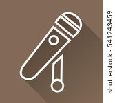 microphone icon. karaoke or... | Shutterstock .eps vector #541243459