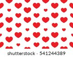 vector of heart seamless... | Shutterstock .eps vector #541244389