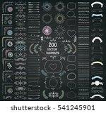 set of 200 hand drawn doodle... | Shutterstock . vector #541245901