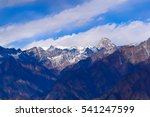 Small photo of Mesmerizing view of Kamet, Parvati and Neelkanth mountains of Garhwal Himalayas from Kuari pass hiking trail near Auli,Uttrakhand,India.