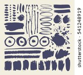 set of hand drawn paint object... | Shutterstock .eps vector #541248919