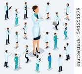 trendy isometric people.... | Shutterstock .eps vector #541251379