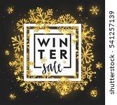 elegant winter sale lettering... | Shutterstock .eps vector #541257139