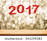 2017 new year hanging over... | Shutterstock . vector #541259281
