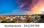 Industrial Oil Tanks In A...