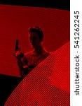 secret agent spy silhouette in... | Shutterstock . vector #541262245