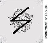 old norse scandinavian runes.... | Shutterstock .eps vector #541272601