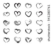 icons abstract hearts. vector... | Shutterstock .eps vector #541280761