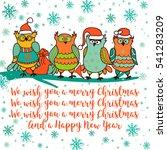merry christmas. hand drawn...   Shutterstock . vector #541283209