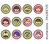 set of people icons with faces. ... | Shutterstock .eps vector #541285735