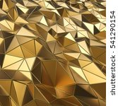 abstract gold polygons 3d... | Shutterstock . vector #541290154