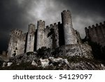 disturbing scene with medieval... | Shutterstock . vector #54129097