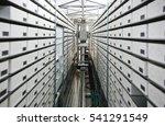automated hospital pharmacy. ... | Shutterstock . vector #541291549