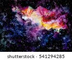 watercolor background with... | Shutterstock . vector #541294285