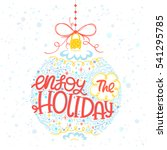 christmas and new year... | Shutterstock .eps vector #541295785