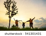 the happy family of three... | Shutterstock . vector #541301431