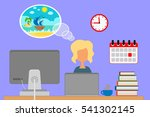 dream about a vacation. | Shutterstock .eps vector #541302145