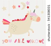 'you are unique' nursery poster ... | Shutterstock .eps vector #541308031