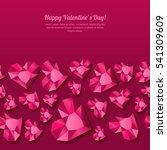 valentines day vector seamless... | Shutterstock .eps vector #541309609