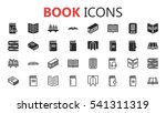 simple modern set of book icons.... | Shutterstock .eps vector #541311319