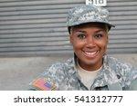 veteran soldier smiling and... | Shutterstock . vector #541312777