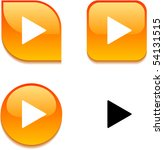 play glossy vibrant web buttons. | Shutterstock .eps vector #54131515