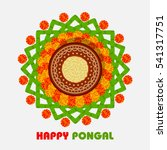 happy pongal design  with pot... | Shutterstock .eps vector #541317751