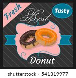 best tasty donut  fresh ... | Shutterstock .eps vector #541319977
