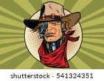 wild west bandit robot steampunk | Shutterstock .eps vector #541324351