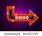 arrow light neon sign billboard.... | Shutterstock .eps vector #541327159