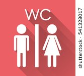vector toilet  restroom icon on ... | Shutterstock .eps vector #541328017