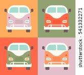 set of retro styled little... | Shutterstock .eps vector #541332271