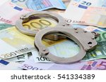 Silver Handcuffs On Many Large...