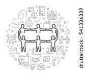 vector line concept for... | Shutterstock .eps vector #541336339